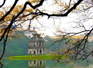 Hoan Kiem (Sword Lake) and Ngoc Son Temple